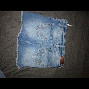 Ripped hollister mini skirt